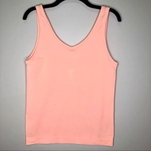 White House Black Market Peach Seamless Tank Top